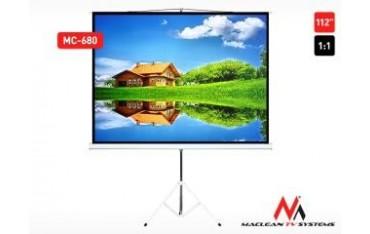 "Ekran projekcyjny Maclean MC-680 112"" 1:1 200x200 na stojaku"