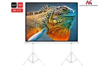 """Ekran projekcyjny Maclean MC-712 150"""" 4:3 300x225 na 2 statywach"""