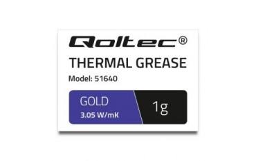 Pasta termoprzewodząca Qoltec 3.05 W/m-K | 1g | złota