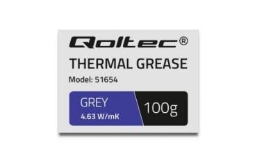 Pasta termoprzewodząca Qoltec 4.63W/m-K | 100g | szara