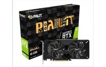 Karta VGA Palit RTX™ 2060 Dual 6GB GDDR6 192bit DVI+HDMI+DP PCIe3.0