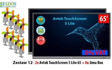 Zestaw 12 - 2x Avtek TouchScreen 5 Lite 65 + 8x Jimu Box