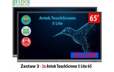 Zestaw Monitor interaktywny 3 - 2 x Avtek TouchScreen 5 Lite 65 cali 4 K