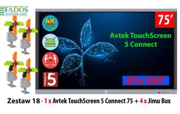 Zestaw 18 - 1 x Monitor interaktywny Avtek TouchScreen 5 Connect 75 4 x Jimu Box 0% EDU