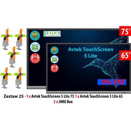 Zestaw 25 - 1 x TouchScreen 5 Lite 75 +1 x TouchScreen 5 Lite 65 + 5 x Jimu Box