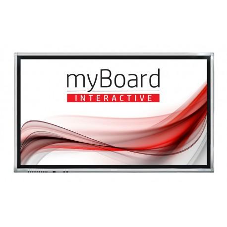 "Monitor interaktywny myBoard Grey D-LED 75"" 4K UHD z Androidem EDU 0%VAT"