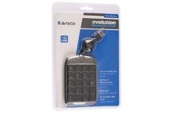 Klawiatura przewodowa A4Tech EVO Numeric Pad USB czarno-grafitowa