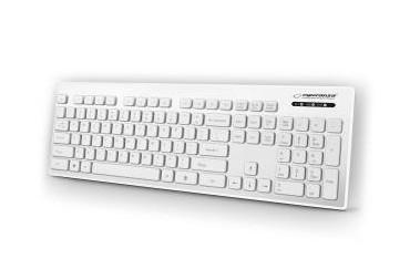 Klawiatura przewodowa USB Esperanza Singapore biała