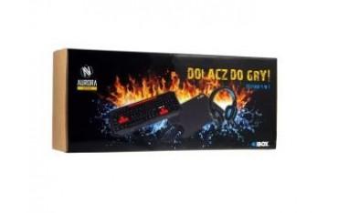 Zestaw klawiatura + mysz + słuchawki + podkładka iBOX Aurora Gaming Set 2
