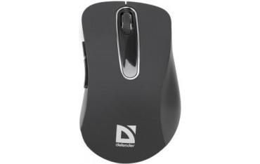 Mysz bezprzewodowa Defender DATUM MM-075 optyczna 1000dpi 5P czarno-srebrna