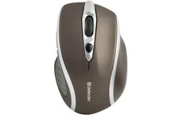 Mysz bezprzewodowa Defender SAFARI MM-675 optyczna 1600dpi brązowo-srebrna