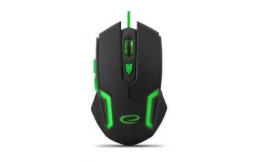 Mysz przewodowa Esperanza MX205 Fighter optyczna Gaming 6D USB czarno-zielona