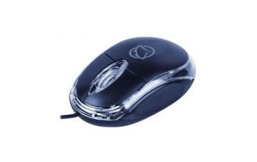 Mysz przewodowa Manta MM703N USB czarno-przezroczysta