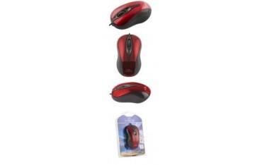 Mysz przewodowa Titanum 3D HORNET TM103R optyczna czarno-czerwona