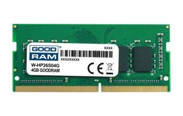 Pamięć DDR4 GOODRAM SODIMM 4GB 2666MHz ded. do HP (W-HP26S04G)