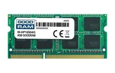 Pamięć DDR3 GOODRAM SODIMM 4GB 1600MHz ded. do HP (W-HP16S04G)