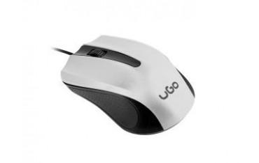 Mysz przewodowa UGO UMY-1216 optyczna 1200 DPI biało-czarna