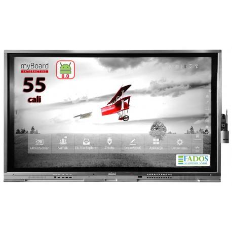 "Monitor interaktywny myBoard Grey TE-MP 55"" 4K UHD z Androidem"