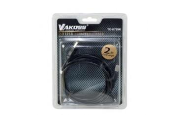 Kabel do drukarki VAKOSS TC-U729K USB 2.0 A-B M/M 2m czarny