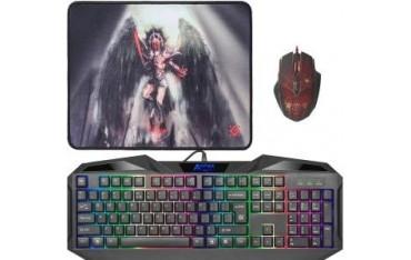 Zestaw dla graczy Defender ANGER MKP-019 (klawiatura+mysz+podkładka)