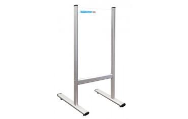 Przegroda na biurko ladę aluminiowa rama oraz plexi 3 mm 40x65