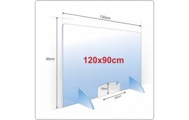 Osłona przegroda przeciwwirusowa z plexi 3 mm na biurko 100 x 60 cm