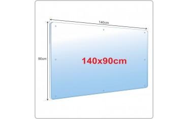 Osłona przegroda przeciwwirusowa z poliwęglanu - plexi 3 mm 120 x 90 cm wieszana