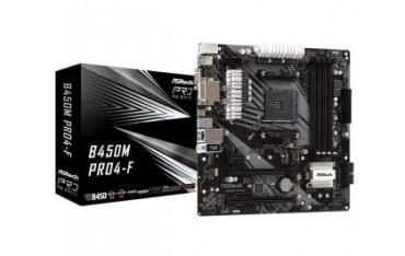 Płyta ASRock B450M Pro4-F /AMD B450/DDR4/SATA3/M.2/USB3.0/PCIe3.0/AM4/mATX