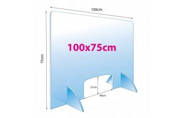 Osłona przeciwwirusowa dla kosmetyczki plexi 4 mm 100 x 75 cm