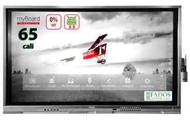 "Monitor interaktywny myBoard Grey TE-MP 65"" 4K UHD z Androidem EDU VAT0% Aktywna tablica"