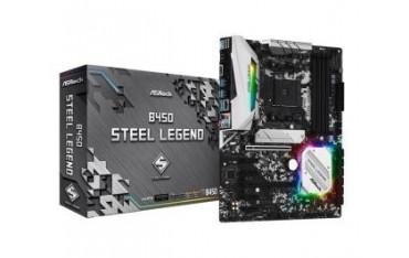 Płyta ASRock B450 Steel Legend /AMD B450/DDR4/SATA3/M.2/USB3.1/PCIe3.0/AM4/mATX