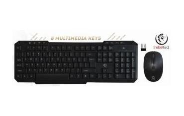 Zestaw bezprzewodowy klawiatura + mysz Rebeltec VORTEX czarny