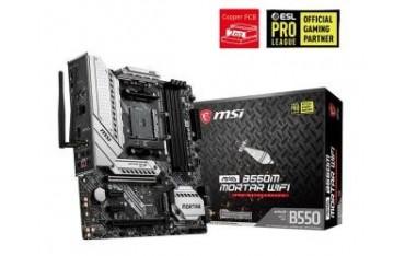 Płyta MSI MAG B550M MORTAR WIFI /AMD B550/DDR4/SATA3/M.2/USB3.1/PCIe4.0/WiFi/BT/AM4/mATX