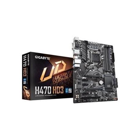 Płyta Gigabyte H470 HD3/H470/DDR4/SATA3/M.2/USB3.1/PCIe3.0/s.1200/ATX