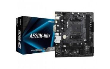 Płyta ASRock A520M-HDV/AMD A520M/DDR4/SATA3/M.2/USB3.1/PCIe4.0/AM4/mATX