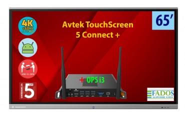 Monitor interaktywny Avtek TouchScreen 5 Connect 65 z OPS Celeron 4K