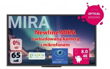 Monitor interaktywny 65 cali 4K Newline MIRA TT-6520HO z wbudowaną kamerą i mikrofonem