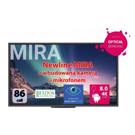 Monitor interaktywny 86 cali 4K Newline MIRA TT-7520HO z wbudowaną kamerą i mikrofonem