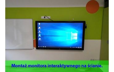 Usługa montażu monitora interaktywnego