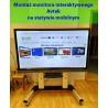 Usługa montażu monitora interaktywnego na statywie mobilnym