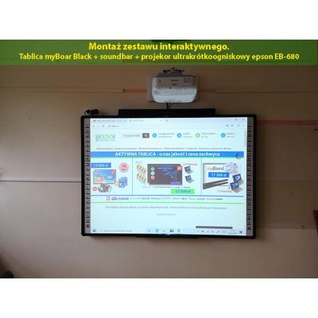Usługa montażu tablicy ze szkoleniem z obsługi