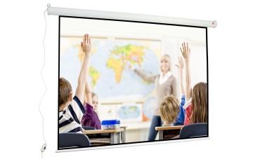 Ekran projekcyjny elektryczny 200 cm x 150 cm Wall Electric 200