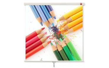 Ekran projekcyjny ścieny rozwijany ręcznie w obudowie standard 175 cm x 175 cm