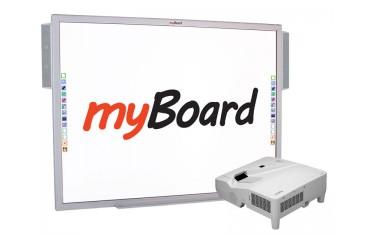 Zestaw tablica interaktywna z projektorem ultrakrótkoogniskowym