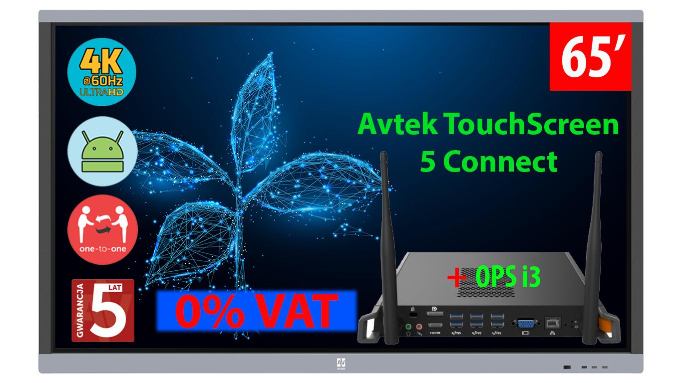 Monitor interaktywny Avtek 5 connect 65 cali z ops i3