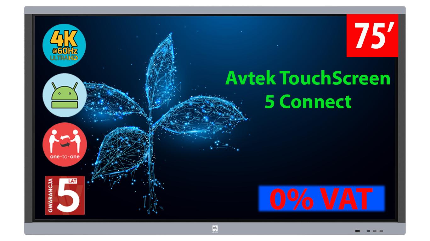 Monitor interaktywny Avtek Connect 75 cali Aktywna Tablica