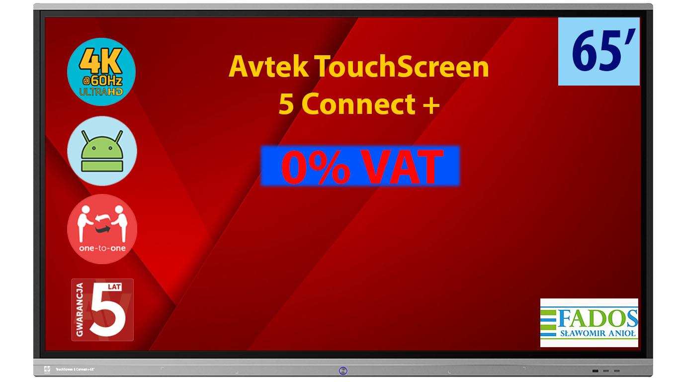 Monitor interaktywny Avtek Touchscreen 5 Connect+ 65'