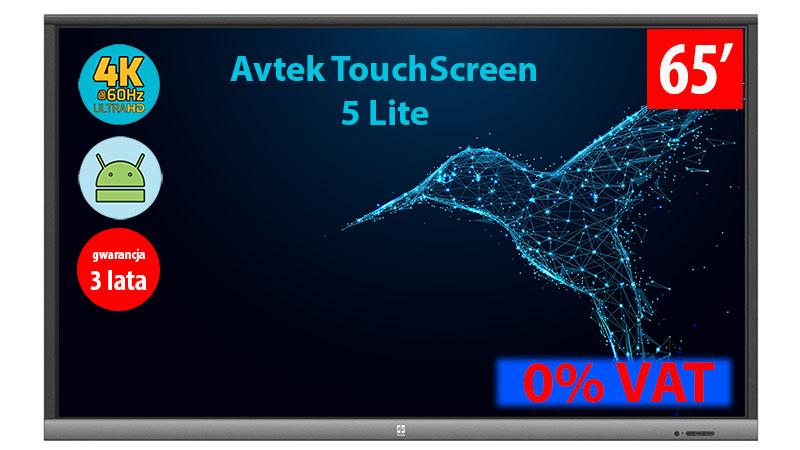 Monitor interaktywny Avtek Touchscreen 5 Lite 65 0% VAT dla edukacji