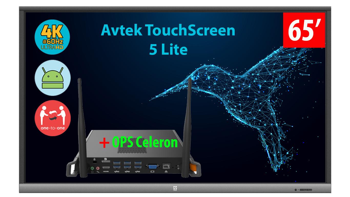 Monitor interaktywny Avtek Touchscreen 5 Lite 65 cali z OPS celeron
