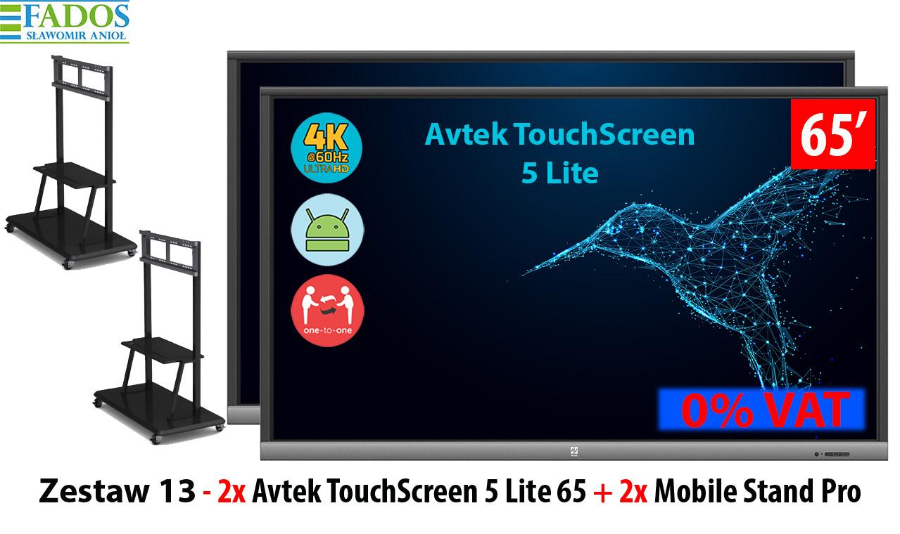 Zestaw 13 - 2 x TouchScreen 5 Lite 65, 2 x Mobile Stand Pro